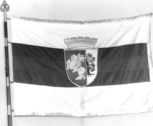Ново знаме на Община Сливен, изработено в Монетния двор през 1996 г.
