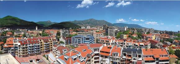 Панорамен изглед на град Сливен