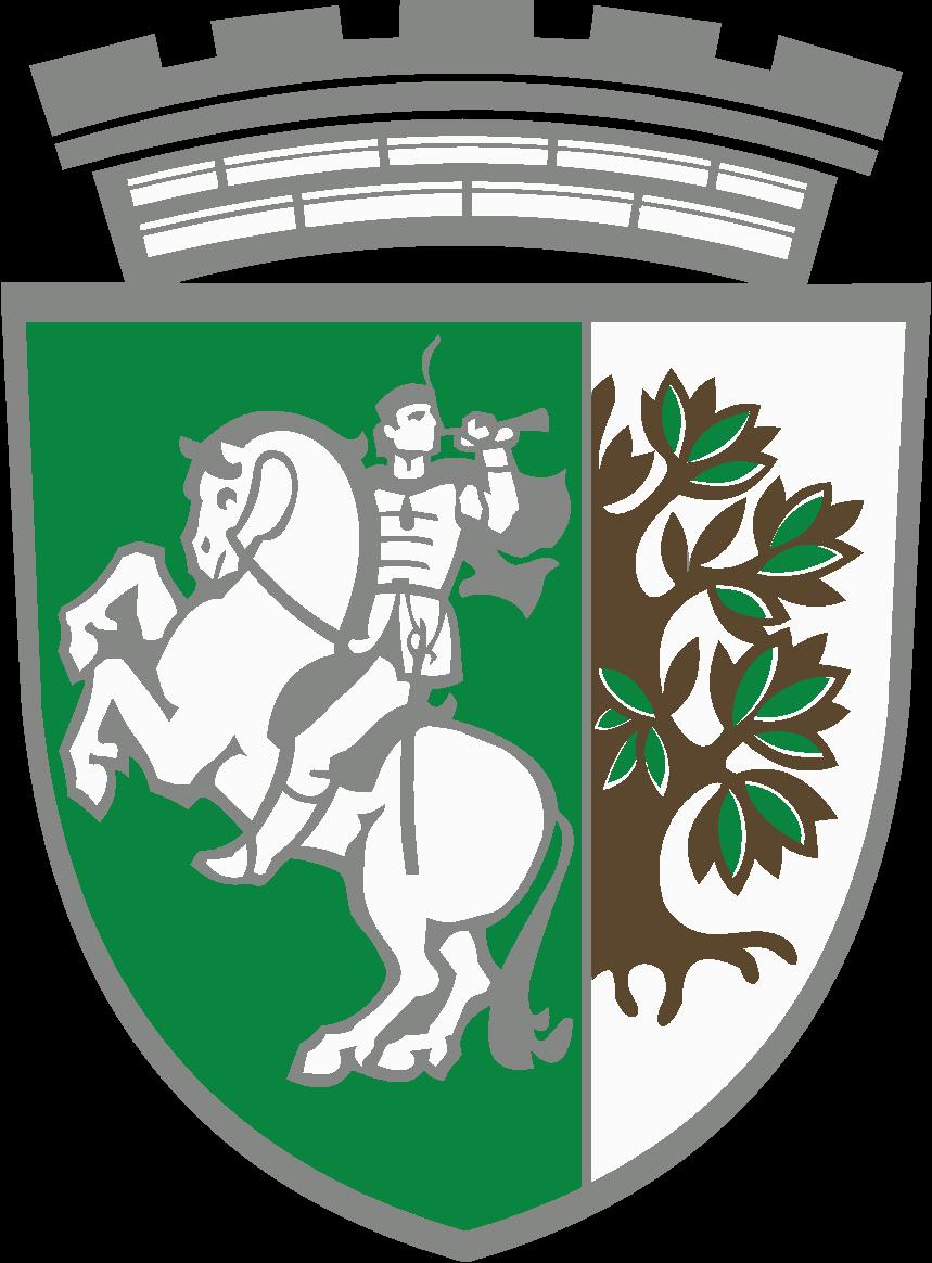Графичен герб на Община Сливен, по проект на художника Евгени Вълев от 1996 г., изработен в Монетен двор
