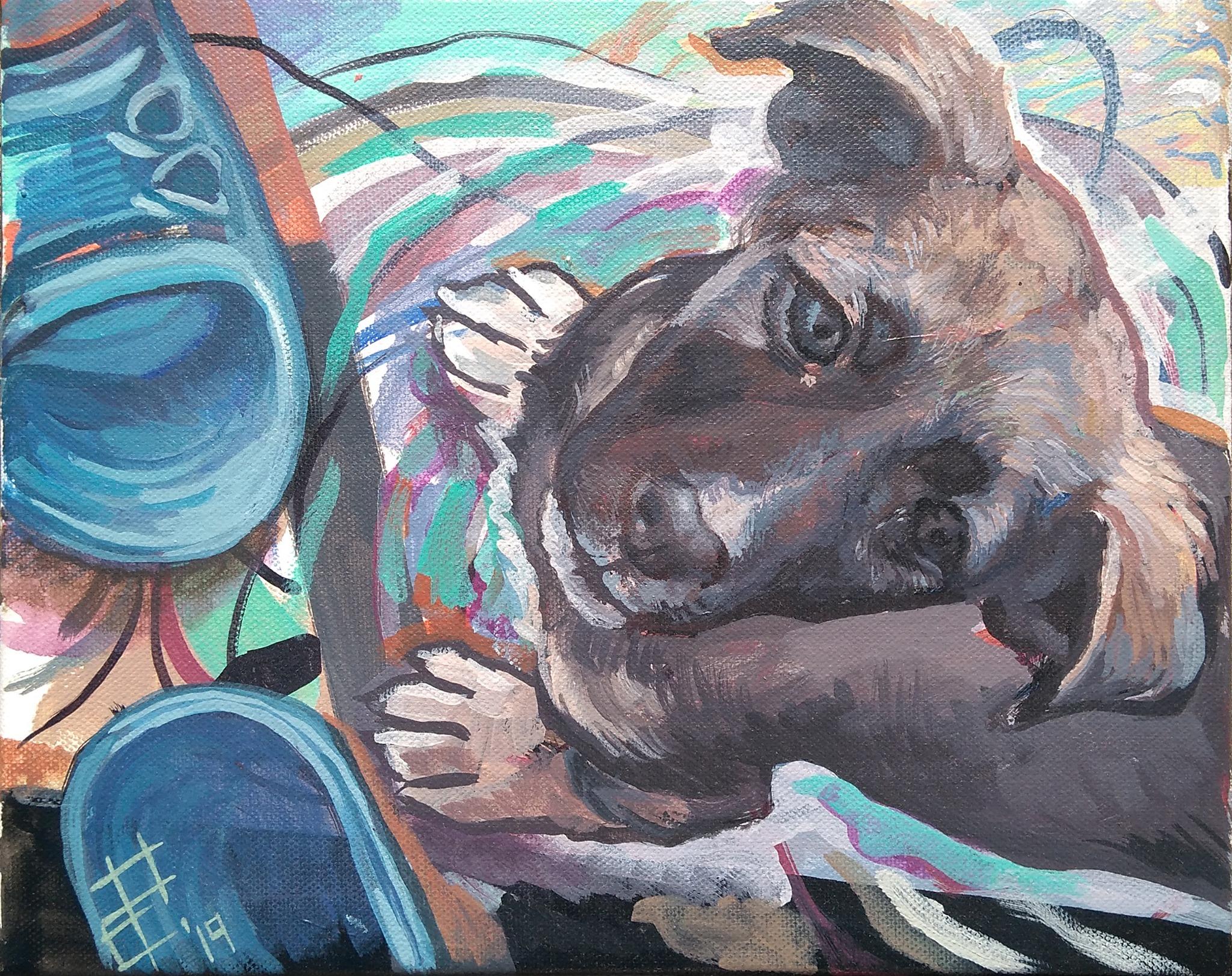 Радка Стоева, име: Малчо, размер: 30/24, техника: акрил върху платно